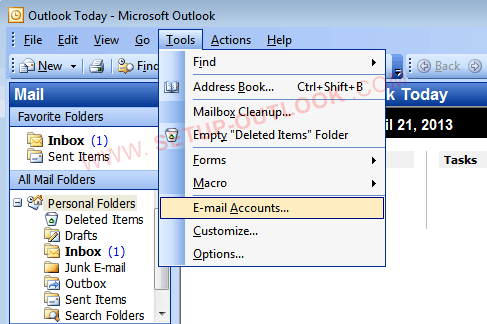 How to set up Outlook 2003 with Gmail